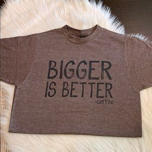 Tops - 🎀BETTER COFFEE Graphic T-shirt Brown XS